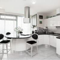 кухня с вентиляционным коробом фото идеи
