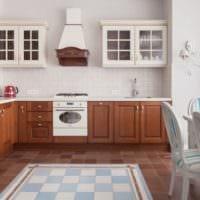 кухня с вентиляционным коробом интерьер