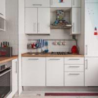 кухня с вентиляционным коробом современная