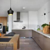 кухня с вентиляционным коробом современный дизайн