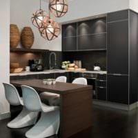 кухня в стиле модерн идеи планировки