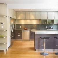 кухня в стиле модерн оформление