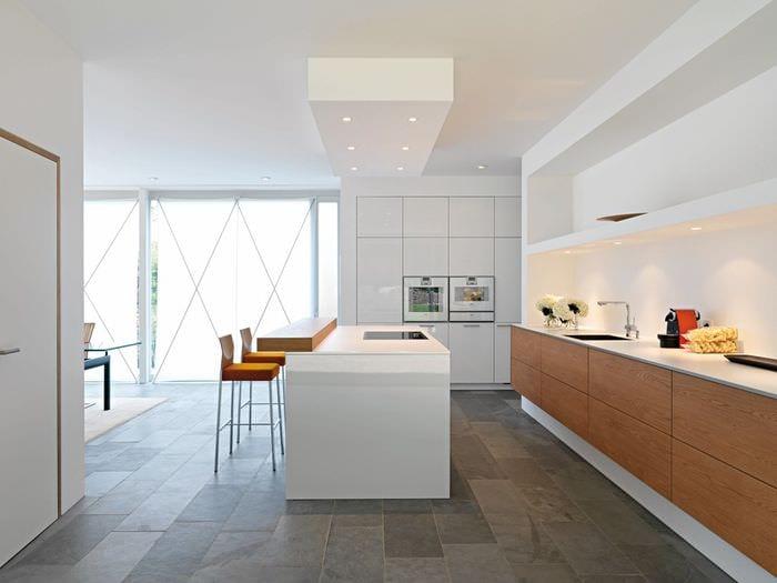 кухня в стиле модерн потолок