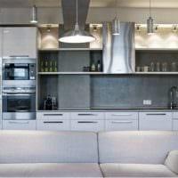 кухня с вентиляционным коробом лофт