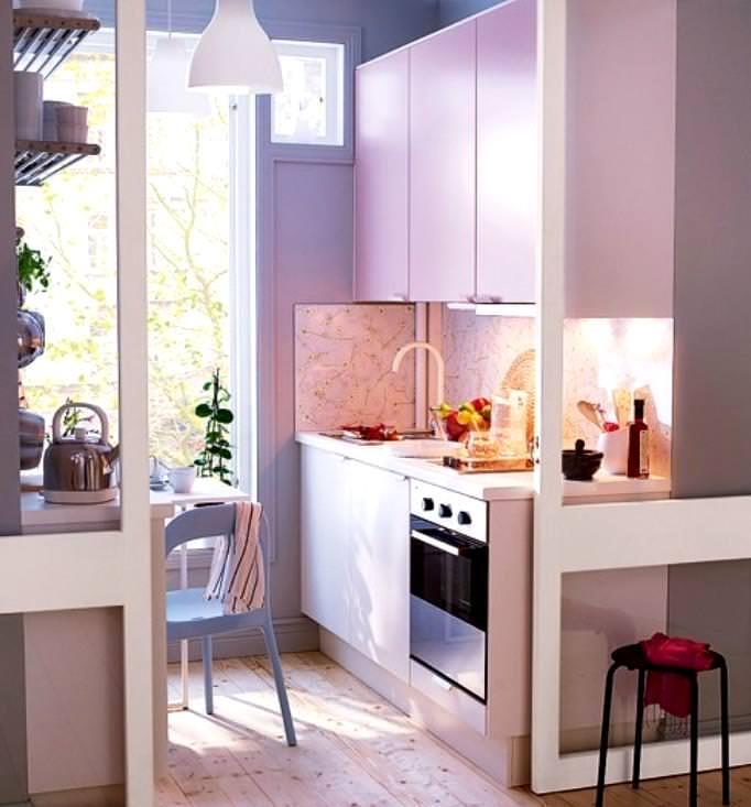маленькая кухня 3 метра