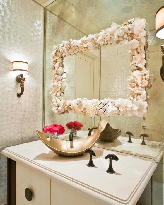 ракушки для декора зеркала