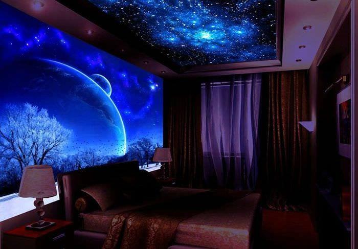 ультрафиолетовый натяжной потолок