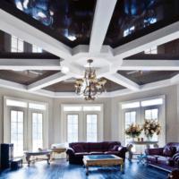 натяжной потолок необычное оформление