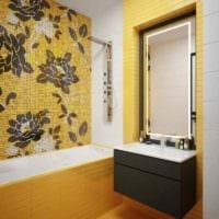 вариант использования яркого желтого цвета в интерьере комнаты картинка