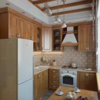 вариант яркого интерьера кухни 7 кв.м картинка