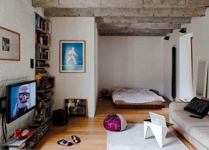 идея красивого декора квартиры студии 26 квадратных метров