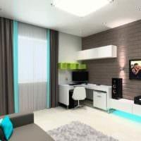 вариант красивого стиля комнаты 12 кв.м картинка
