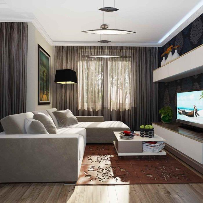 идея светлого декора комнаты 12 кв.м