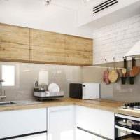 пример необычного декора кухни 7 кв.м фото