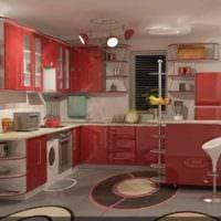 пример необычного интерьера кухни с газовой колонкой фото
