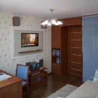 пример яркого декора комнаты 12 кв.м фото
