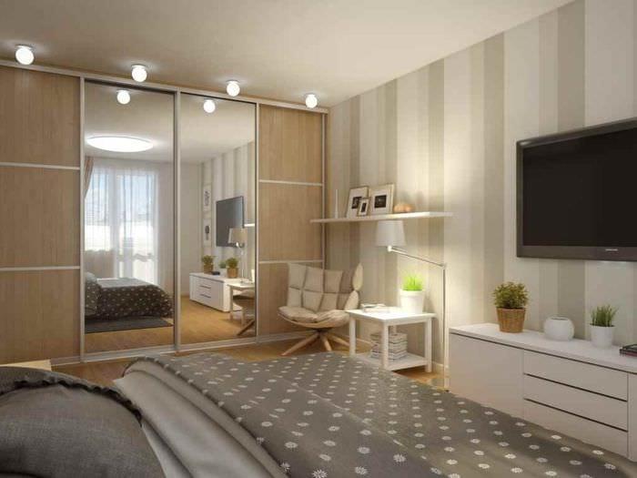 вариант необычного декора комнаты 12 кв.м