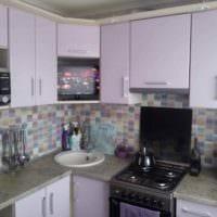 вариант светлого декора кухни 10 кв.м. серии п 44 картинка