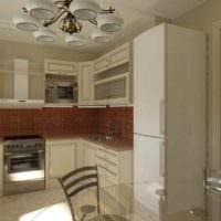 пример красивого стиля кухни 7 кв.м картинка