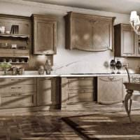 идея яркого стиля кухни в классическом стиле картинка