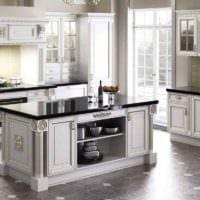 вариант красивого интерьера кухни в классическом стиле фото