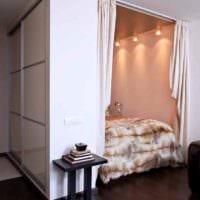 идея светлого стиля квартиры студии 26 квадратных метров фото