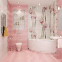 идея красивого дизайна укладки плитки в ванной комнате картинка