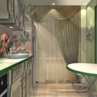 идея необычного декора кухни 11 кв.м фото
