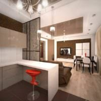 вариант необычного декора квартиры студии 26 квадратных метров фото