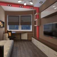идея необычного стиля комнаты 12 кв.м картинка
