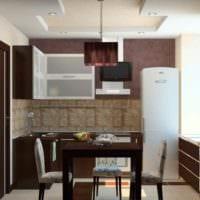 вариант необычного интерьера кухни 13 кв.м картинка