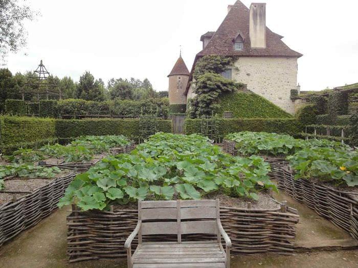 пример светлого дизайна огорода на даче