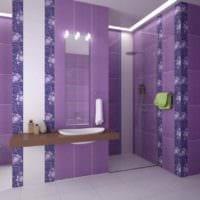 идея светлого дизайна укладки плитки в ванной комнате фото