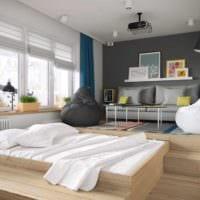 пример необычного стиля гостиной спальни фото