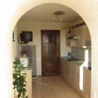 вариант красивого интерьера кухни 7 кв.м фото