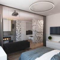 вариант яркого декора гостиной спальни картинка