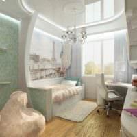 пример красивого дизайна комнаты 12 кв.м фото