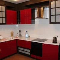 вариант яркого стиля кухни 10 кв.м. серии п 44 фото