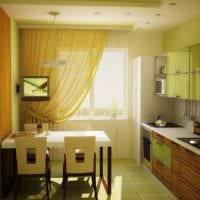 вариант необычного стиля кухни 7 кв.м фото