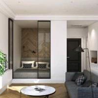 вариант яркого стиля квартиры студии 26 квадратных метров фото