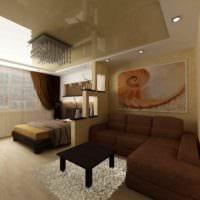 идея красивого декора квартиры студии 26 квадратных метров фото
