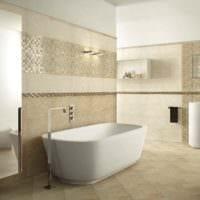 вариант необычного интерьера укладки плитки в ванной комнате картинка