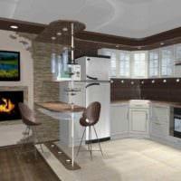 пример светлого стиля кухни 11 кв.м фото