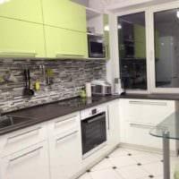 пример необычного интерьера кухни 12 кв.м фото
