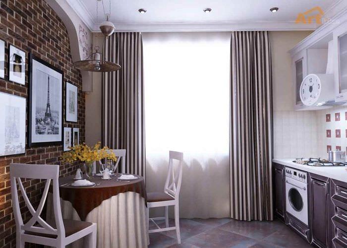 пример яркого интерьера кухни 12 кв.м