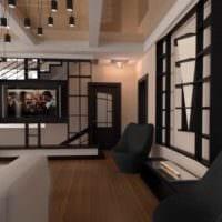 вариант светлого интерьера квартиры студии 26 квадратных метров картинка