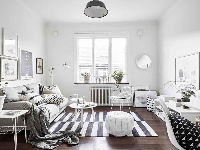 пример применения темного скандинавского стиля в интерьере