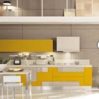 пример использования красивого желтого цвета в декоре квартиры фото
