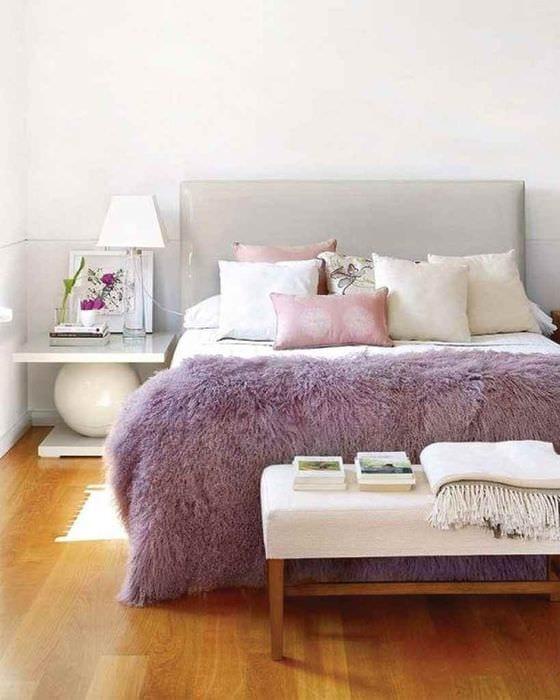 пример использования красивого сиреневого цвета в дизайне