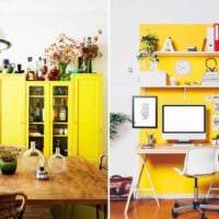 вариант использования светлого желтого цвета в дизайне комнаты картинка